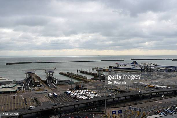 A general view of The Port of Dover on March 7 2016 in Dover England The United Kingdom a member of the European Union an economic and political...
