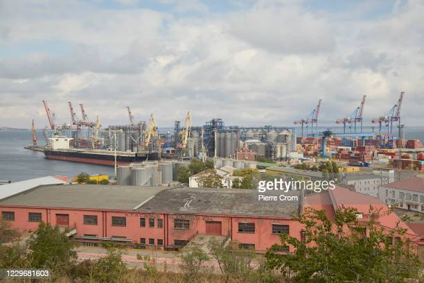 General view of the port of Odessa on the Black Sea, on September 26, 2020 in Odessa, Ukraine.