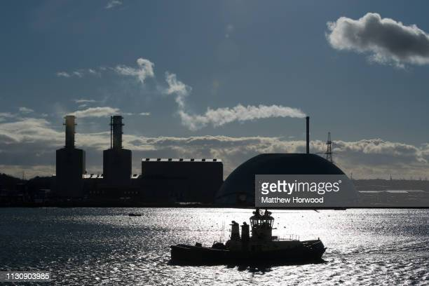 A general view of the Port of Southampton on February 10 2019 in Southampton England The Port of Southampton is a passenger and cargo port in the...