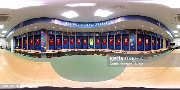 A general view of the Portugal dressing room prior to the UEFA EURO 2016 Group F match between Portugal and Iceland at Stade GeoffroyGuichard on June...