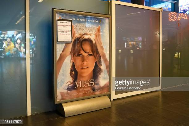 General view of the poster for the movie MISS during its Paris Premiere on October 21st At MK2 Bibliotheque on October 21 2020 in Paris France Cinema...