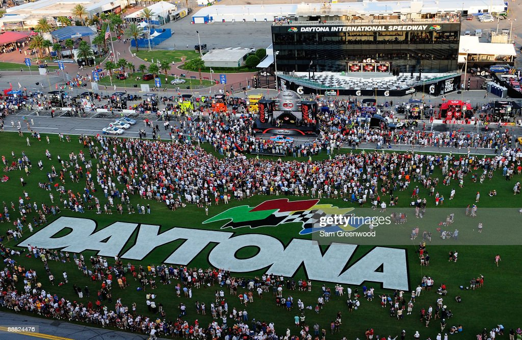 A general view of the pre race stage and activities prior to the start of the NASCAR Sprint Cup Series 51st Annual Coke Zero 400 at Daytona International Speedway on July 4, 2009 in Daytona Beach, Florida.