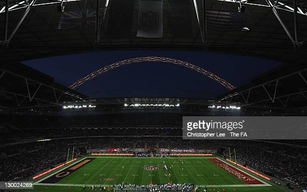 General view of the pregame entertainment prior to the NFL International Series match between Chicago Bears and Tampa Bay Buccaneers at Wembley...