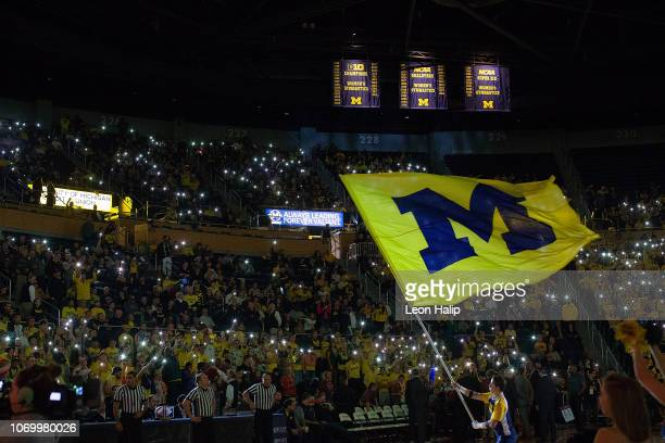 General view of the pregame introductions prior to the start of the game between the South Carolina State Bulldogs and the Michigan Wolverines at...