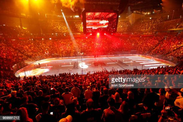 General view of the pregame show prior to Game Four of the Western Conference Finals of the 2018 NHL Stanley Cub Playoffs between the Winnipeg Jets...