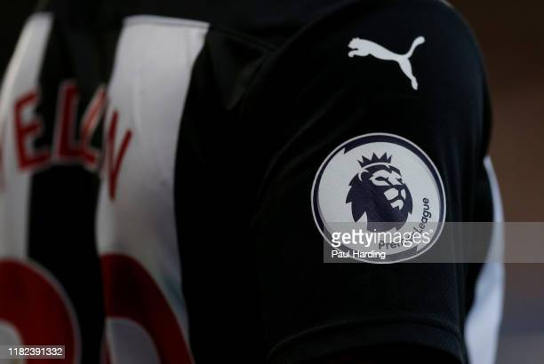 General view of the Premier League logo during the Premier League match between Chelsea FC and Newcastle United at Stamford Bridge on October 19 2019...