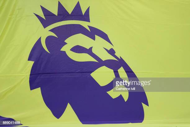 General view of the Premier League logo during the Premier League match between Tottenham Hotspur and Stoke City at Wembley Stadium on December 9...