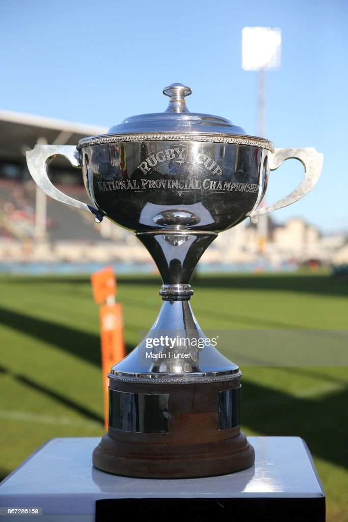 A general view of the Premiership Cup during the Mitre 10 Cup Premiership Final match between Canterbury and Tasman at AMI Stadium on October 28, 2017 in Christchurch, New Zealand.