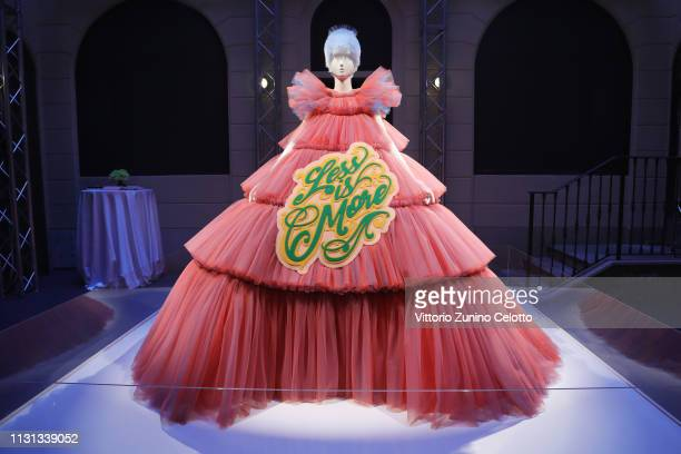 General view of the Press Event for The Costume Institute's spring 2019 exhibition Camp Notes on Fashion on February 22 2019 in Milan Italy