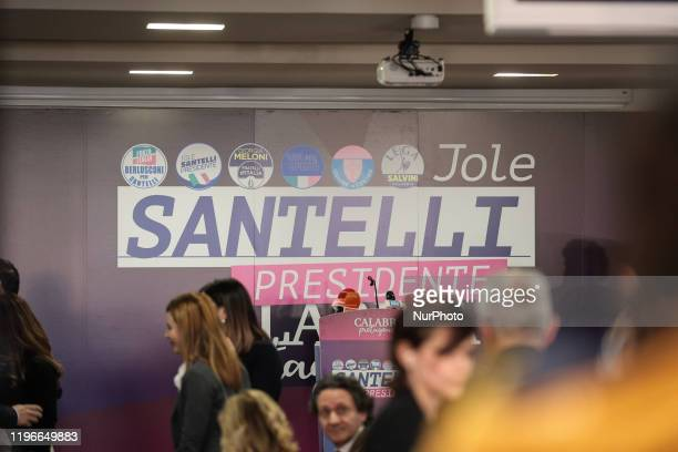 General view of the press room of Jole Santelli in Lamezia Terme , Italy, on 26 January 2020. Jole Santelli becomes new President of the Calabria...