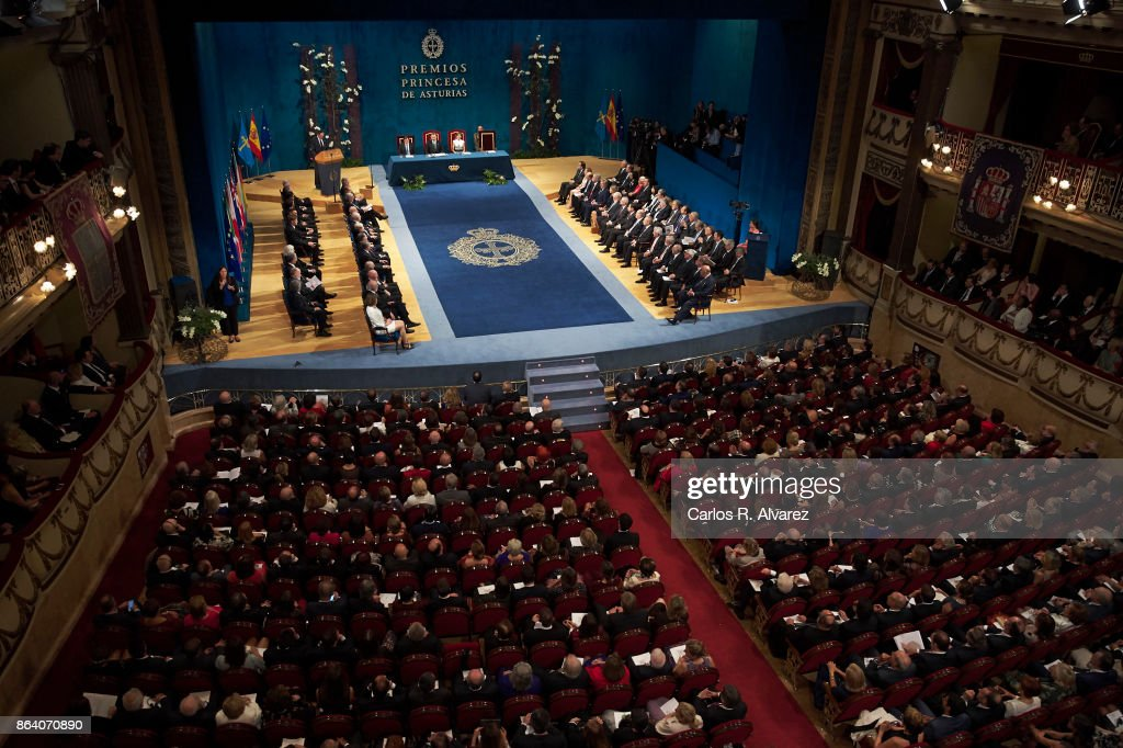 General view of the Princesa de Asturias Awards 2017 ceremony at the Campoamor Theater on October 20, 2017 in Oviedo, Spain.