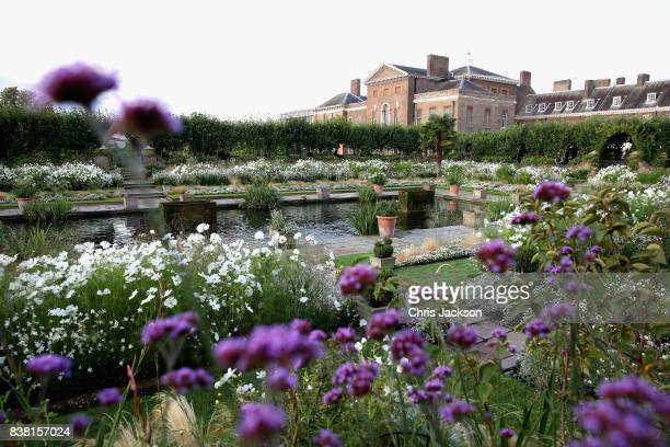 General view of the Princess Diana 'White Garden' at Kensington Palace on August 24 2017 in London England Princess Diana lived at Kensington Palace...