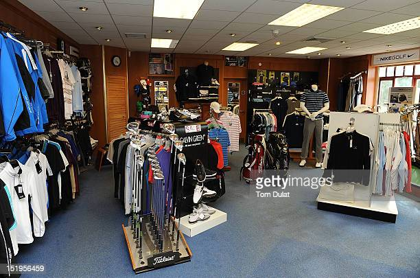 General view of the pro shop during the final day of the PGA Super 60's Tournament at the De Vere Belton Woods Golf Club on September 13 2012 in...