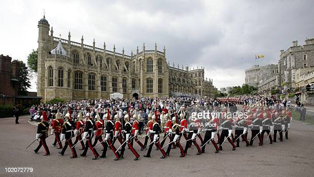 A general view of the procession of The Order of the Garter Service on June 14 2010 at St George's Chapel Windsor Castle in Windsor England The Order...