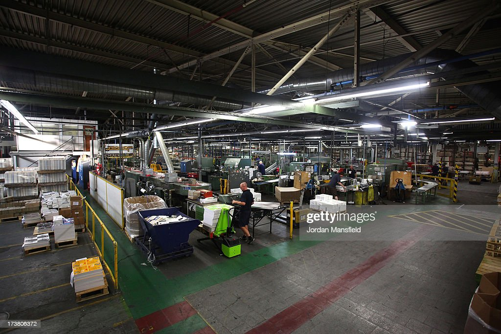 A general view of the production line at Clays Publishing on July 18, 2013 in Bungay, England. JK Rowling has recently been uncovered as the secret author of the new book 'The Cuckoo's Calling' after being published by Sphere under the pseudonym of 'Robert Galbraith.' Since the revelation, sales of the book have soared and the printers of the book, Clays, have had to start reprinting the book in large numbers.