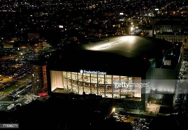 A general view of the Prudential Center during the first hockey game played there between the Ottawa Senators and the New Jersey Devils October 27...