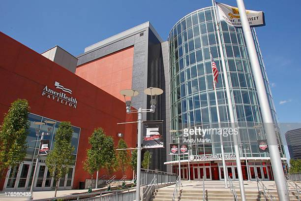 General view of the Prudential Center during the press conference announcing the new ownership of the New Jersey Devils on August 15, 2013 in Newark,...