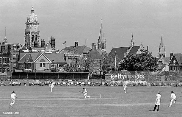 General view of the Prudential World Cup Warm-up Match between New Zealand and Sri Lanka at The Saffrons, Eastbourne, 1st June 1975.