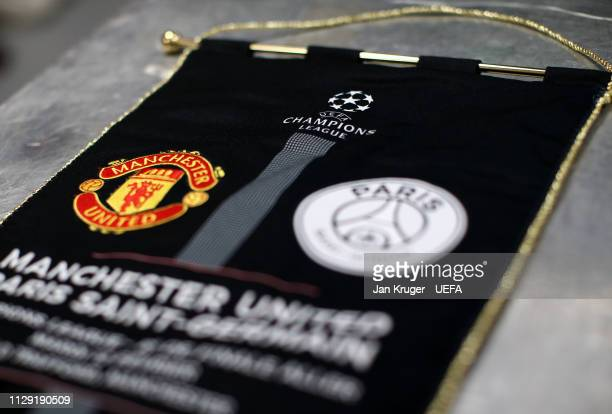 A general view of the PSG dressing room ahead of the UEFA Champions League Round of 16 First Leg match between Manchester United and Paris...