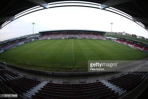General view of the PTS Academy Stadium prior to the Sky Bet League Two match between Northampton Town and Crewe Alexandra at PTS Academy Stadium on...
