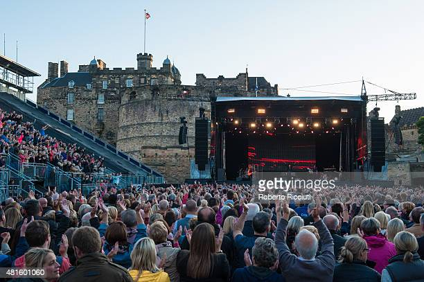 General view of the public during Lionel Richie performance at Edinburgh Castle on July 22 2015 in Edinburgh United Kingdom