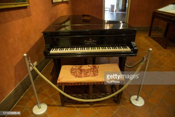 A general view of the Puccini Museum Casa Natale in Lucca Italy on July 10 2018 Puccini Museum Casa Natale where Giacomo Puccini was born on 22...