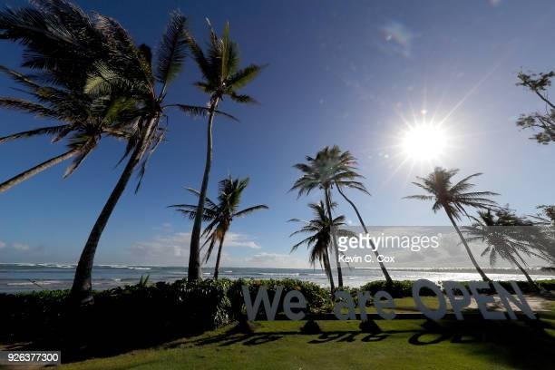 A general view of the Puerto Rico Open Charity ProAm at TPC Dorado Beach on March 2 2018 in Dorado Puerto Rico
