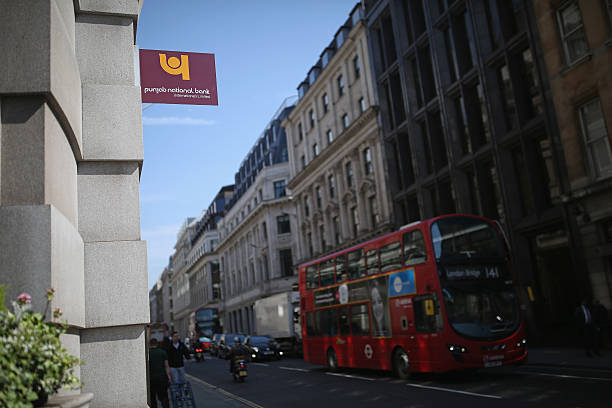 A general view of the Punjab National Bank in the City of London on May 13 2016 in London England There are 250 foreign banks set up in the UK...