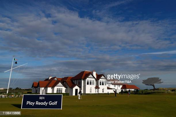 A general view of the putting green during day one of the RA Amateur Championship at Portmarnock Golf Club on June 17 2019 in Portmarnock Ireland