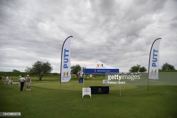 General view of the putting green during the 2021 Drive, Chip and Putt Regional Qualifier at TPC Scottsdale on September 26, 2021 in Scottsdale,...