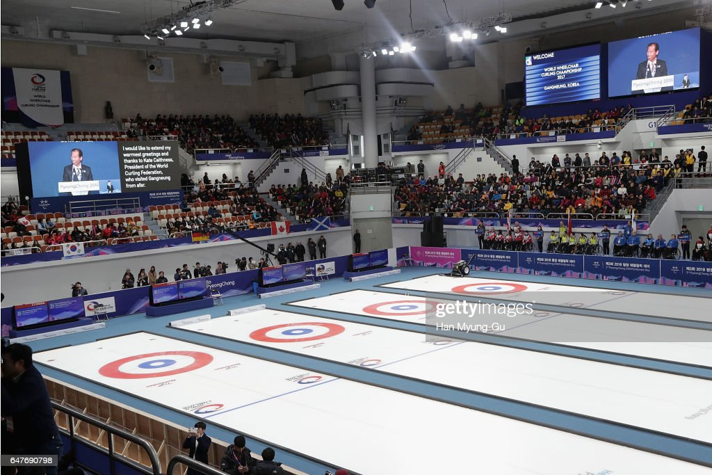 PyeongChang 2018 Paralympic Day And Opening of the World Wheelchair Curling Championship 2017 : News Photo
