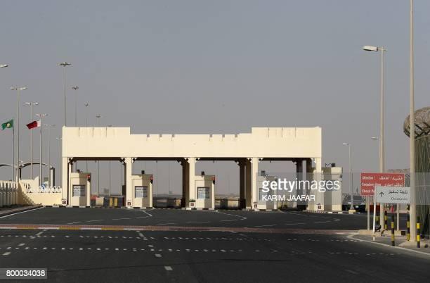 A general view of the Qatari side of the Abu Samrah border crossing with Saudi Arabia on June 23 2017 On June 5 Saudi Arabia and its allies cut all...