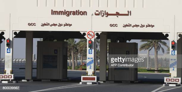 A general view of the Qatari side of the Abu Samrah border crossing with Saudi Arabia on June 23 2017 On June 5 Saudi Arabia and its allies cut all...