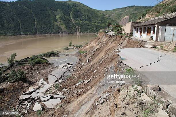 A general view of the quakehit area on July 22 2013 in Minxian China At least 89 people were killed and 5 others missing after a 66magnitude...
