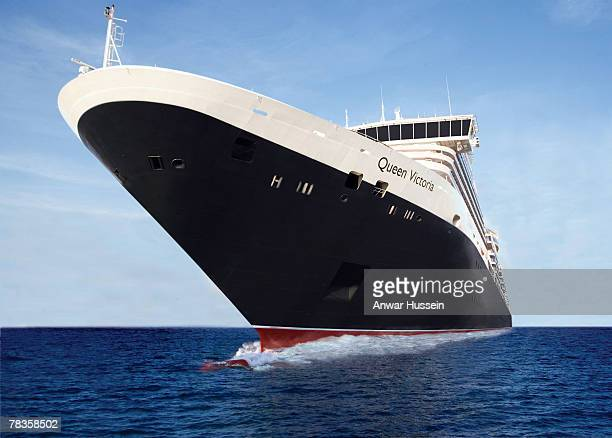 General View of the 'Queen Victoria' Camilla Duchess of Cornwall officially names the Cunard Liner 'Queen Victoria' on December 10 2007 in...