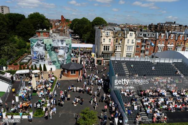 A general view of the Queens Club during day one of the FeverTree Championships at Queens Club on June 18 2018 in London United Kingdom