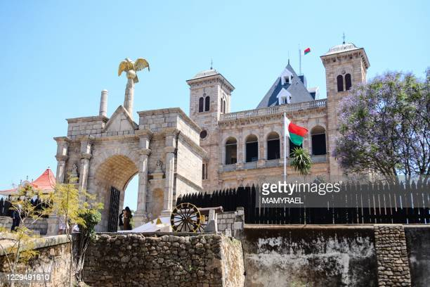 General view of the Queen's Palace of Manjakamiadana, in the upper city of Antananarivo, on November 6, 2020. - The Queen's Palace of Manjakamiadana...