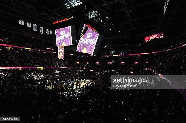 A general view of The Quicken Loans Arena before the New York Knicks game against the Cleveland Cavaliers on October 25 2016 in Cleveland Ohio NOTE...