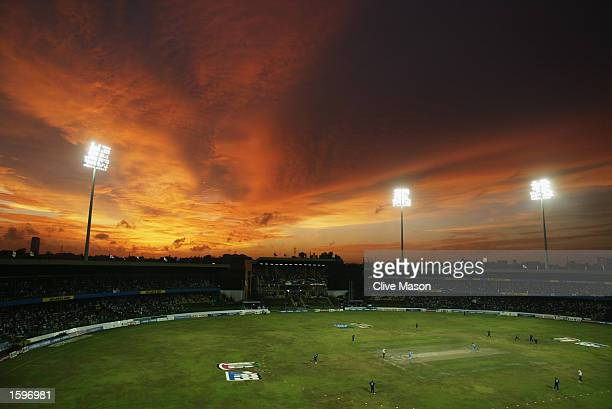 A general view of the R Premadasa Stadium during the ICC Champions Trophy match between England and India at the R Premadasa Stadium in Colombo Sri...