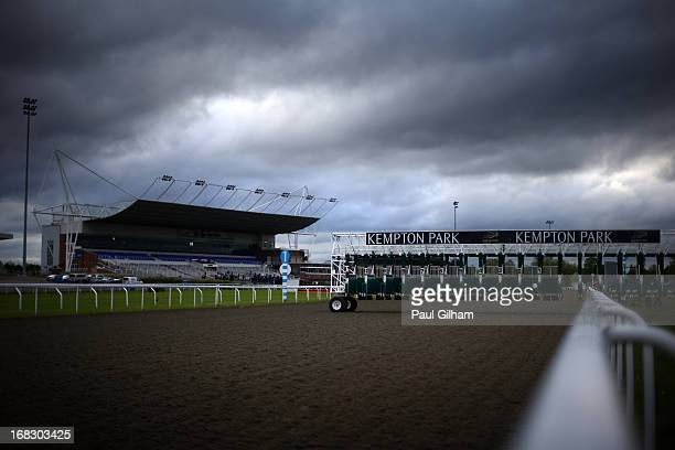 A general view of the race course during evening flat races at Kempton Park on May 8 2013 in Sunbury England