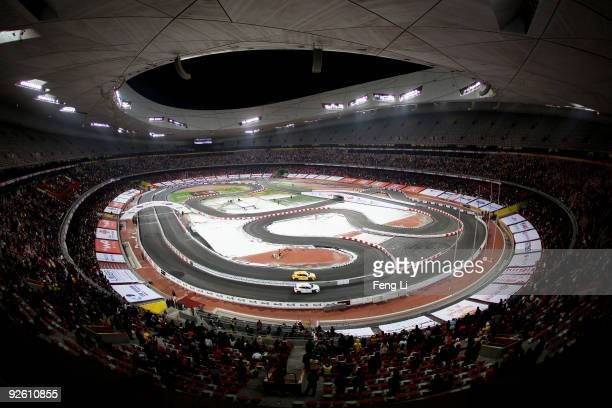 A general view of the Race of Champions Beijing 2009 at Beijing National Stadium on November 2 2009 in Beijing China