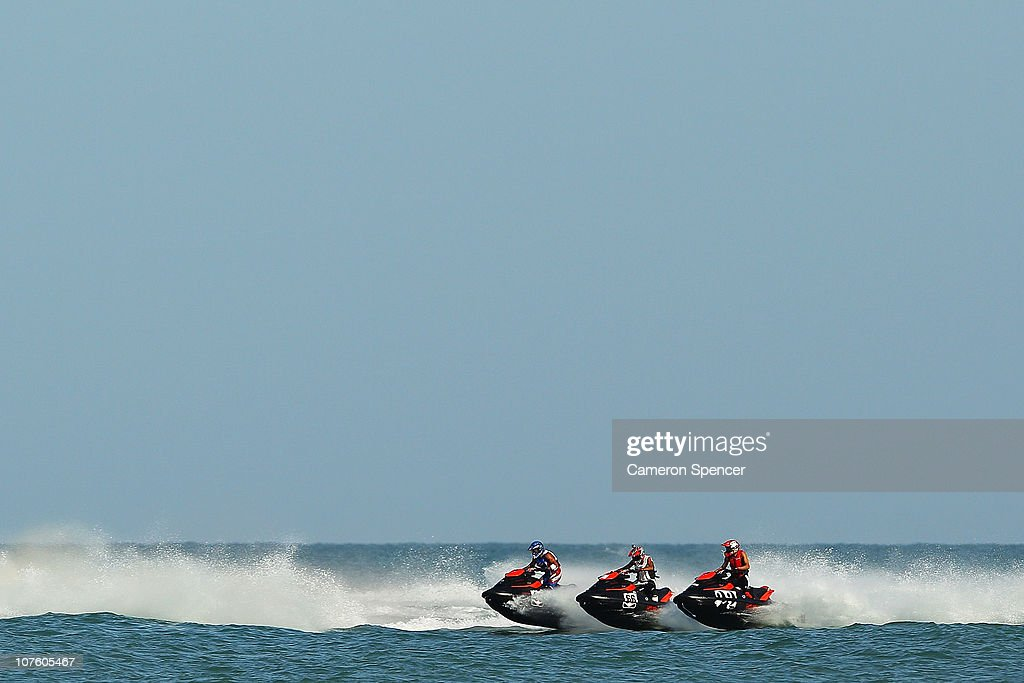 A general view of the race start in the Jetski final at Al-Musannah Sports City during day eight of the 2nd Asian Beach Games Muscat 2010 on December 15, 2010 in Muscat, Oman.