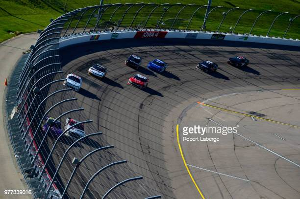 General view of the race track during the NASCAR Xfinity Series Iowa 250 presented by Enogen at Iowa Speedway on June 17 2018 in Newton Iowa