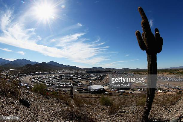 A general view of the raceway during the NASCAR Sprint Cup Series CanAm 500 at Phoenix International Raceway on November 13 2016 in Avondale Arizona