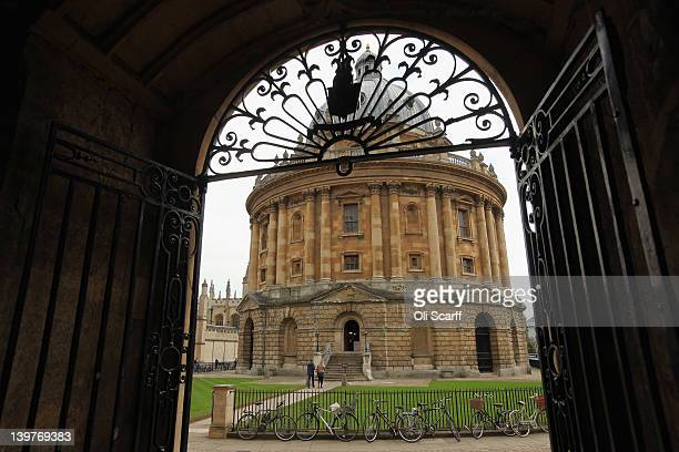 A general view of the Radcliffe Camera building part of the Bodleian Library in Oxford city centre on February 24 2012 in Oxford England Oxford...