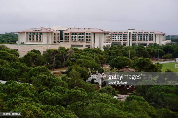 A general view of the Rapid player's Hotel during the SK Rapid Training Session at Regnum Carya Hotel on January 25 2019 in Belek Turkey