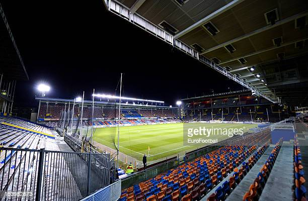 General view of the Rasunda Stadium home of AIK Solna taken during the UEFA Europa League group stage match between AIK Solna and FC Dnipro...