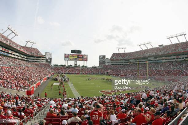 General view of the Raymond James Stadium taken before the game between the Tampa Bay Buccaneers and the New Orleans Saints on November 5, 2006 at...