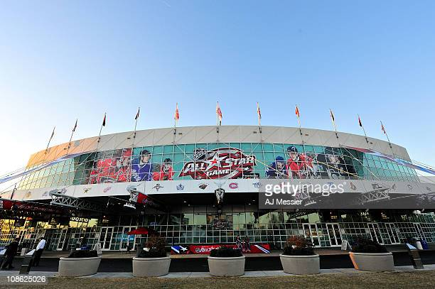 A general view of the RBC Center is seen during 58th NHL AllStar Game at the RBC Center on January 30 2011 in Raleigh North Carolina Team Lidstrom...