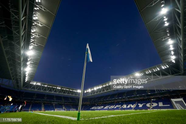General view of the RCDE Stadium prior to the UEFA Europa League group H match between Espanyol Barcelona and Ferencvarosi TC at Power8 Stadium on...